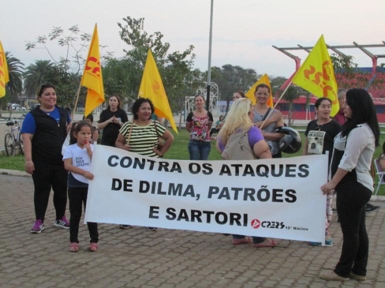 Servidores estaduais em S�o Borja organizam manifesta��o para protestar contra novo parcelamento de sal�rios