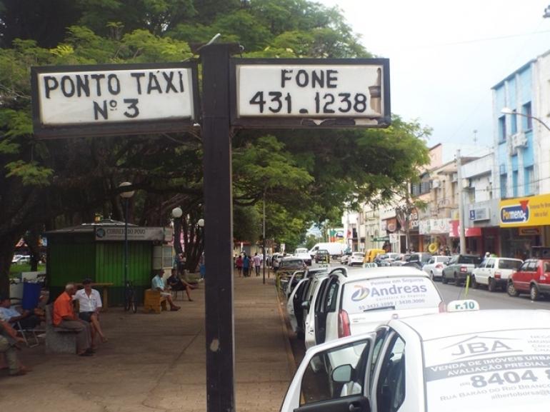 Valores das tarifas dos táxis são reajustadas em São Borja