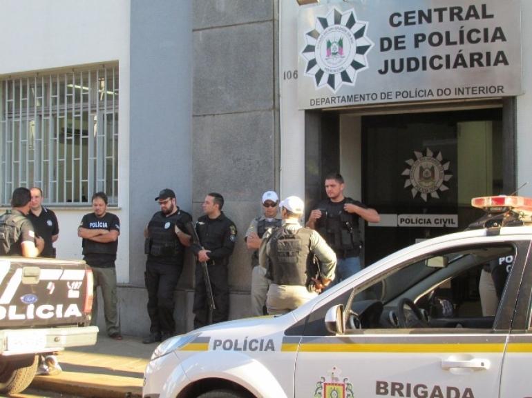 Tentativa de homic�dio � registrada na Pol�cia Civil de S�o Borja