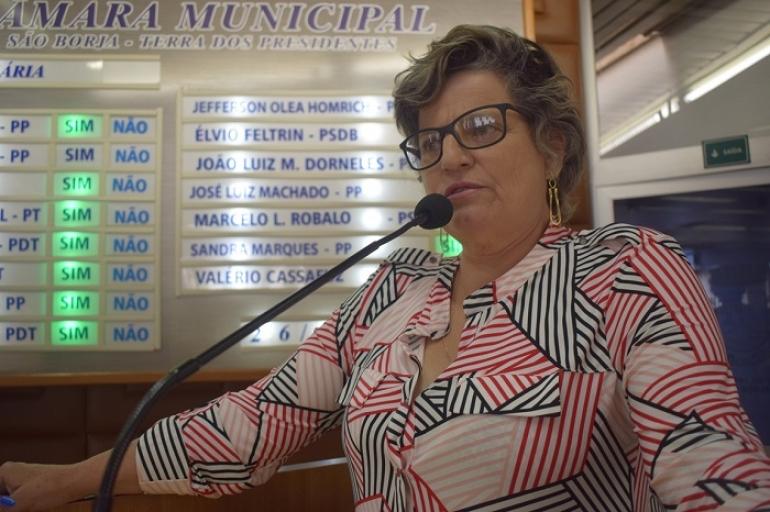 Vereadora Sandra propõe projeto que conscientiza mulheres a respeito da saúde