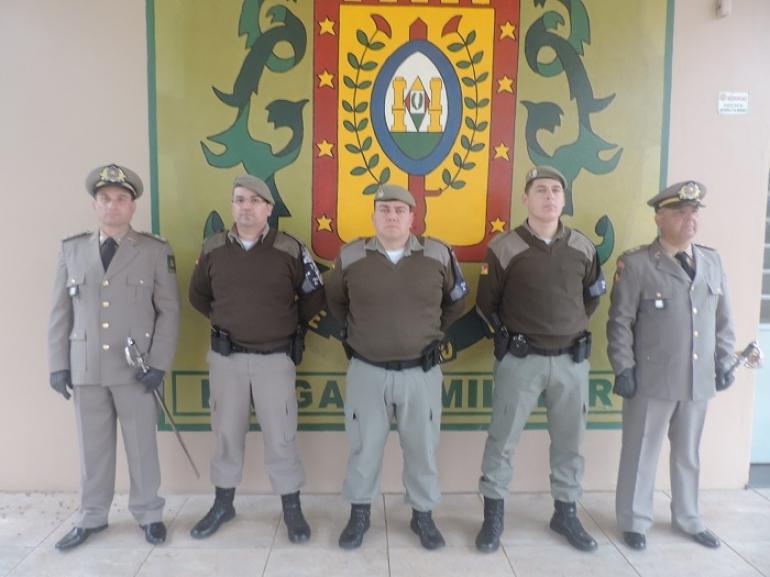 Brigada Militar de São Borja recebe dois novos oficiais