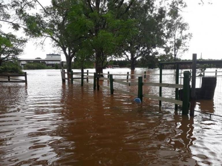 Chuva causa transtornos em São Borja