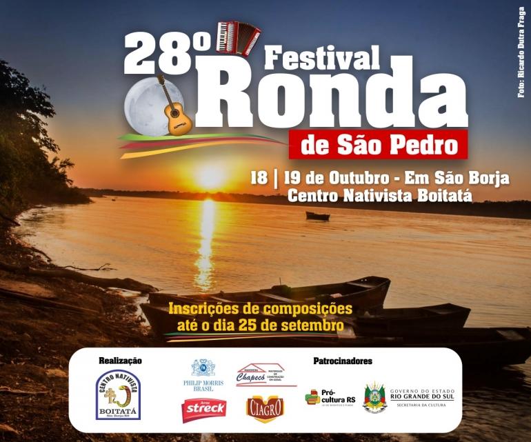 XXVIII Festival Ronda de São Pedro volta ao calendário de comemorações tradicionalistas