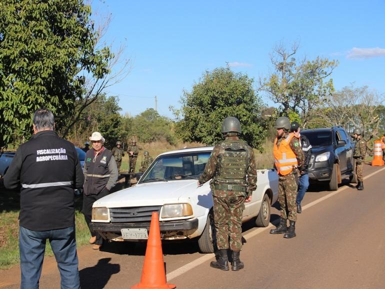 Começa em São Borja Operação Fronteira Sul