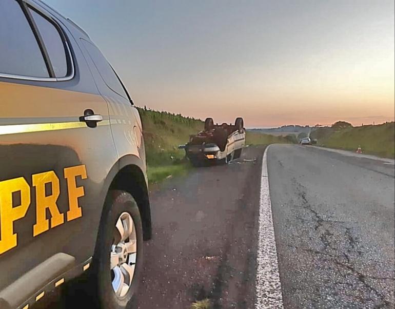 PRF atende acidente com morte em Santo Antônio das Missões