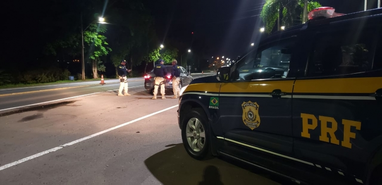 Motorista embriagado é preso pela PRF na BR 287