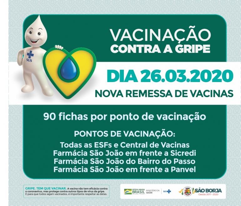 Vacinação contra H1N1 será retomada amanhã