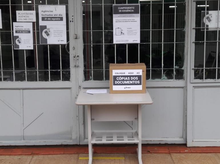 Agências do INSS disponibilizam urna para entrega de documentos