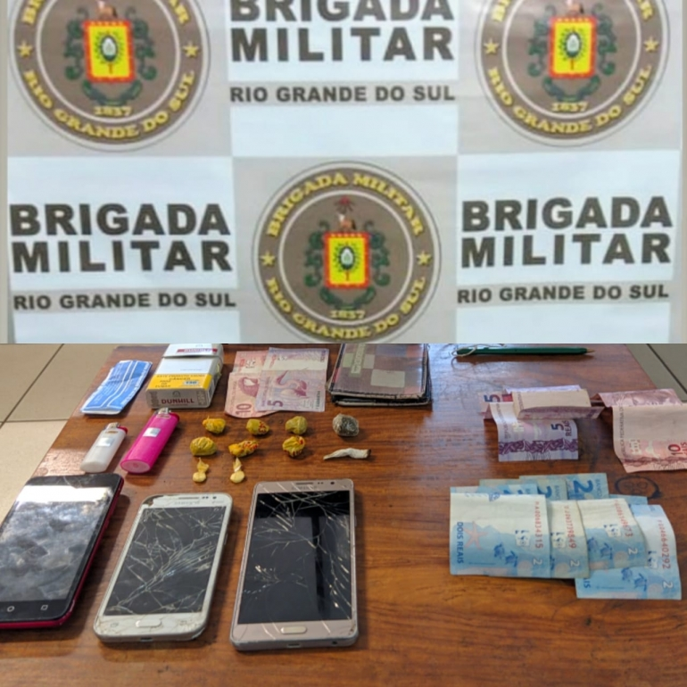 Jovem é preso por tráfico de drogas no parque General Vargas