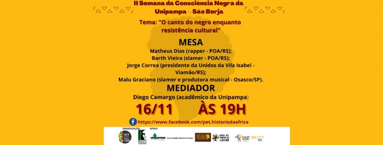 Unipampa São Borja inicia hoje a 2ª Semana da Consciência Negra
