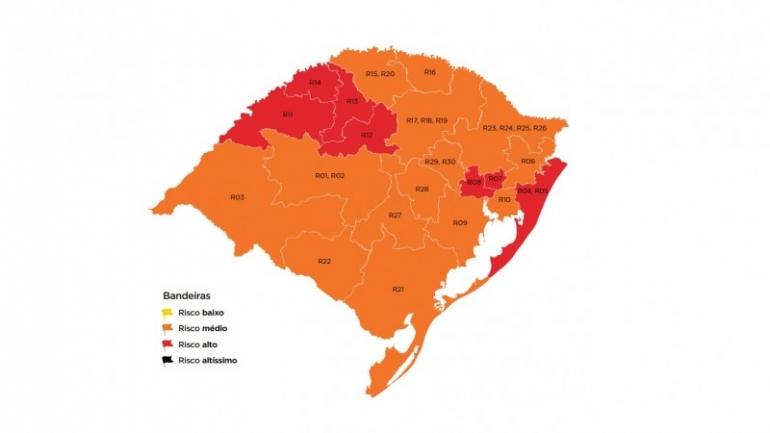 Com recurso negado, região de Santo Ângelo permanece em bandeira vermelha