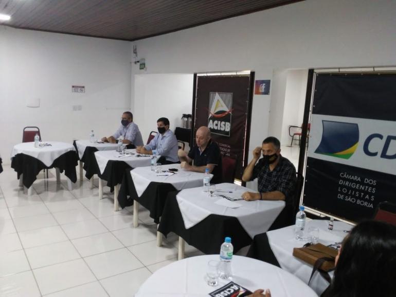 Reunião na Acisb define defesa pela renovação da concessão da Ponte Internacional