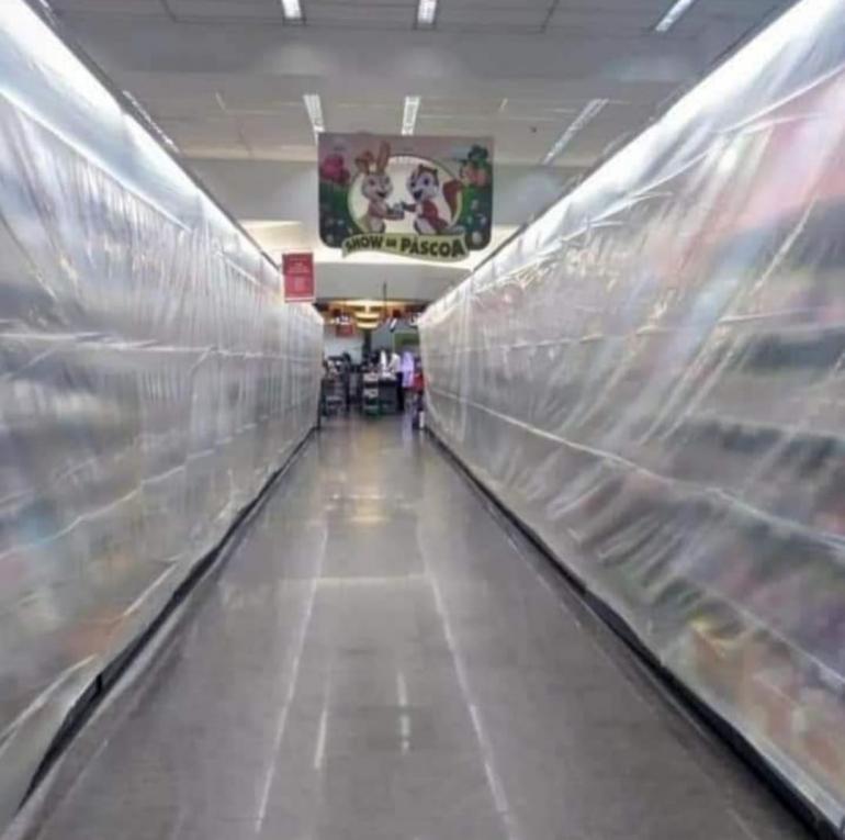 A partir desta segunda-feira, supermercados só poderão vender itens essenciais