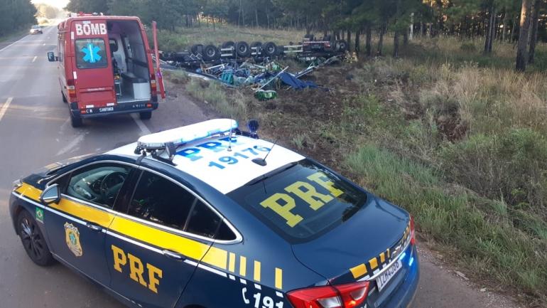 Caminhoneiro São-Borjense morre em acidente na BR287, na manhã desta sexta(23)