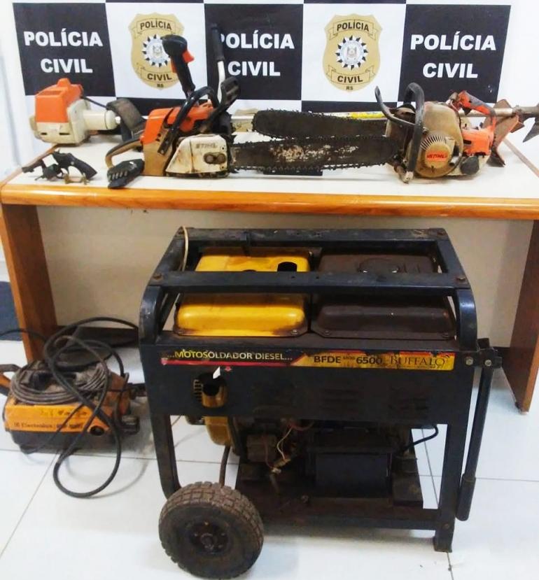 Polícia Civil apreende vários objetos furtados em São Borja
