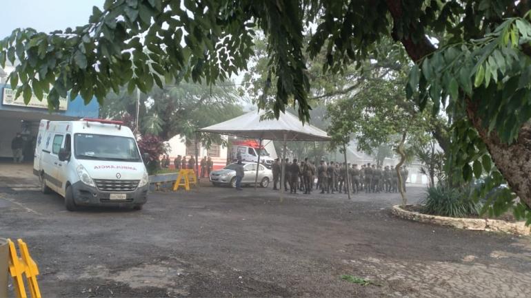 Segue a vacinação em militares do Exército Brasileiro em São Borja