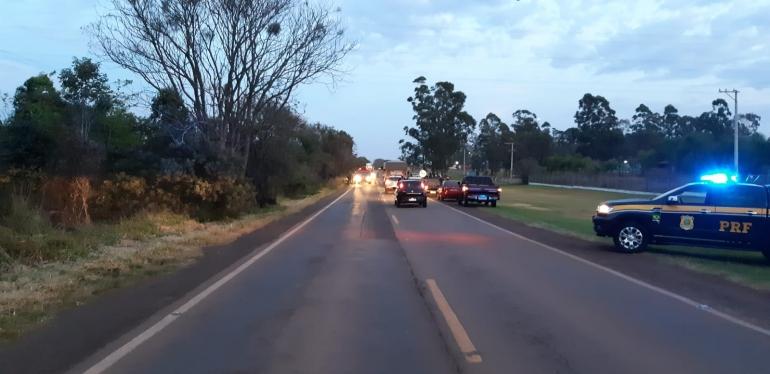 Homem de 40 anos fica gravemente ferido após acidente na BR 287