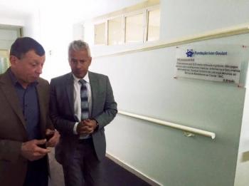 Secretário Estadual da Saúde visita o Hospital Ivan Goulart