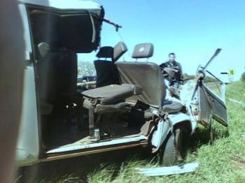 Motorista de Kombi morre após acidente em São Borja
