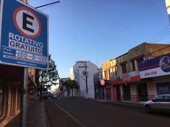 Começa a funcionar o estacionamento rotativo provisório em São Borja