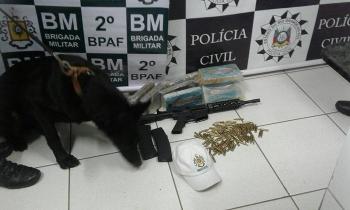 Dois homens são presos com drogas e arma na rodoviária de São Borja