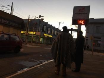 Grande frente fria avança no fim de semana em São Borja