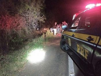PRF atende acidente envolvendo veículo da Prefeitura de São Borja