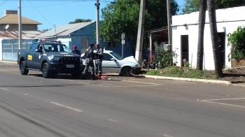 5 pessoas ficam feridas em acidente de trânsito