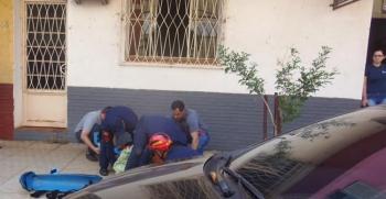 Estudante cai do segundo andar de prédio na rua Riachuelo