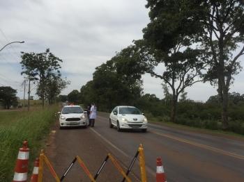 Trevos de São Borja estão contando com barreiras sanitárias durante todo o dia