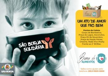 Que tal ajudar também? Grande campanha faz recolhimento de alimentos em toda SB