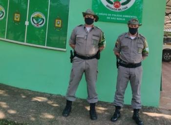 Comandante do 3º Batalhão Ambiental visita unidade em São Borja
